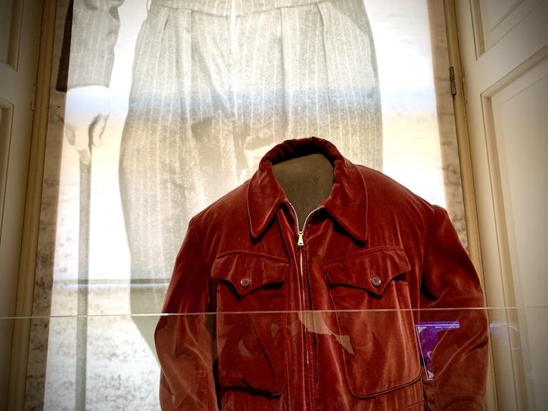One's onesie. An original siren suit in a fetching claret-coloured in velvet. Photo Credit: © Antony Robbins.