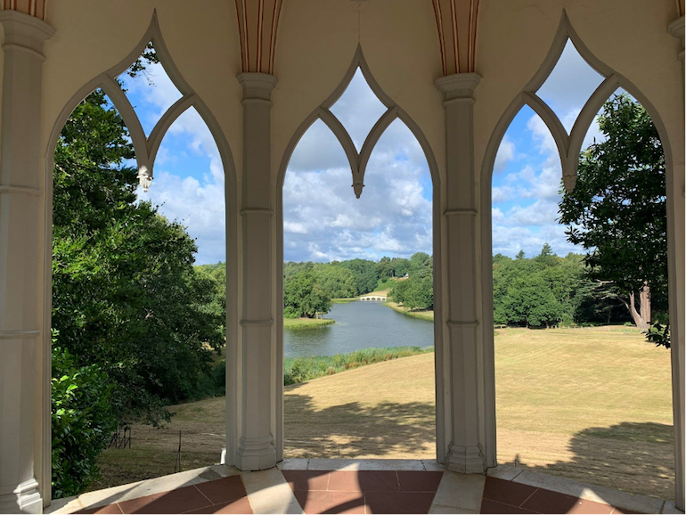 A view of Painshill Park from gothic temple. Photo Credit: © Cheryl Cates.