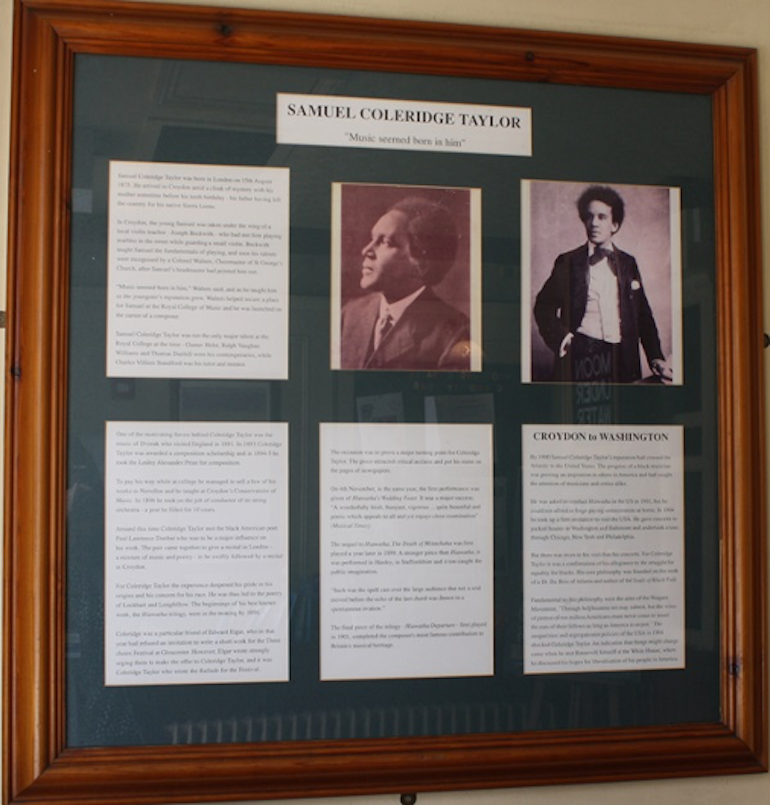 Photographs and text about Samuel Coleridge Taylor at Wetherspoons Pub. Photo Credit: © J D Wetherspoon plc.