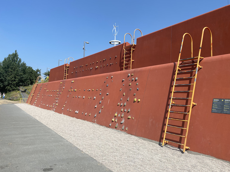 Climbing Wall at Queen Elizabeth Olympic Park. Photo Credit: © Sarah Woods.