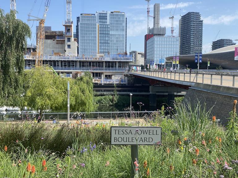 Tessa Jowell Boulevard at Queen Elizabeth Olympic Park. Photo Credit: ©Sarah Woods.