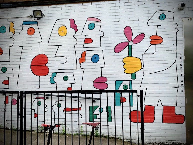 Thierry Noir's street art in Shoreditch, London. Photo Credit: © Antony Robbins.