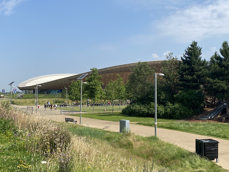 Velodrome roof at Queen Elizabeth Olympic Park in London. Photo Credit: ©Sarah Woods.