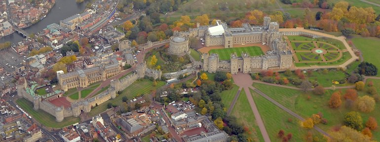 Aerial view of Windsor Castle. Photo Credit: © Wikimedia Commons.