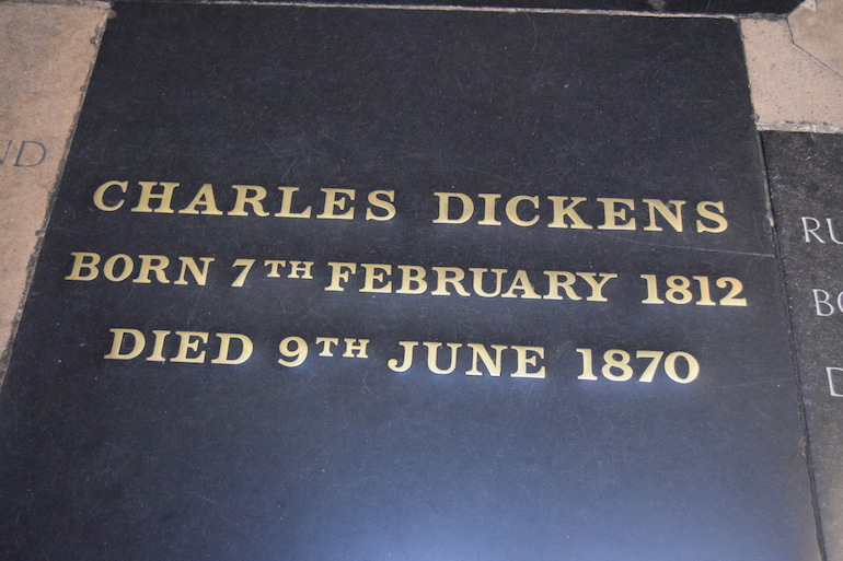Charles Dickens at Westminster Abbey. Photo Credit: © David Streets.