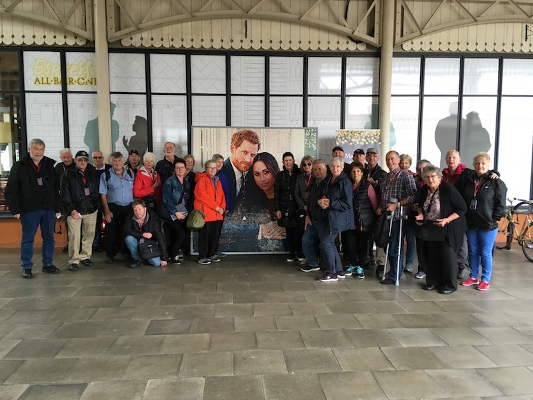 Tour group in Windsor near Prince Harry and Meghan photo. Photo Credit: © Edwin Lerner.
