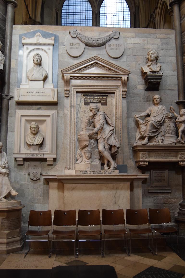 Westminster Abbey Burials: Poets Corner. Photo Credit: ©David Streets.