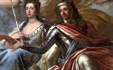 William and Mary depicted on the ceiling of the Painted Hall, Greenwich, by Sir James Thornhill. Photo Credit: © Public Domain via Wikimedia Commons.