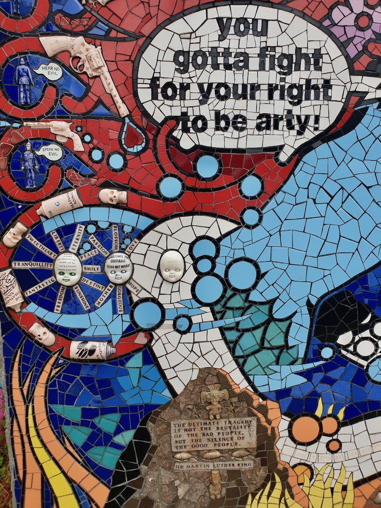 You gotta fight for your right to be arty. Photo Credit: © Christopher Hayden.